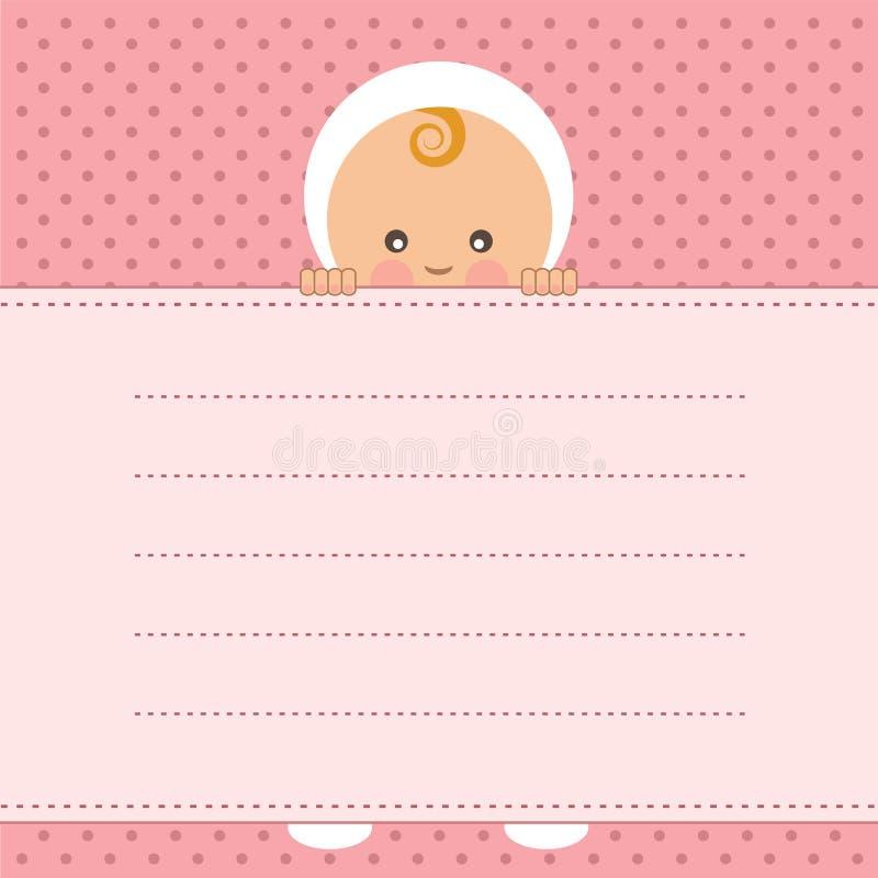 Cartão do anúncio do bebê. ilustração do vetor