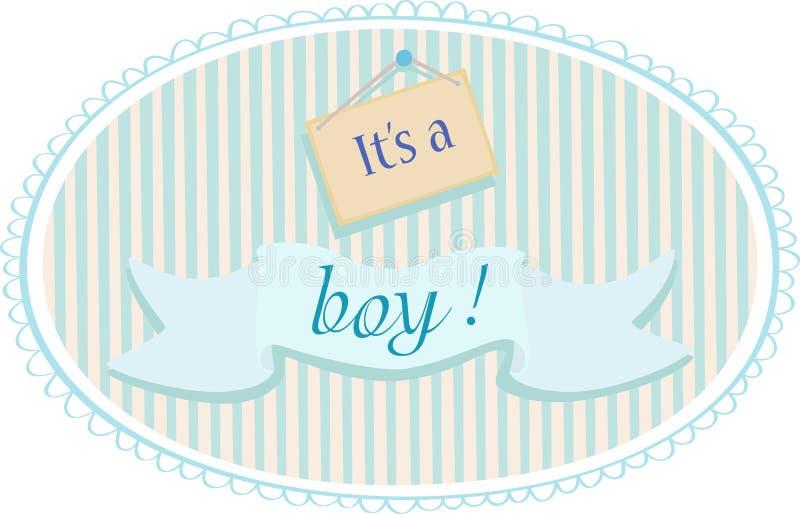Cartão do anúncio do bebê ilustração stock