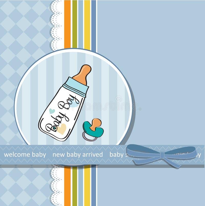 Cartão do anúncio do bebê com pacifier ilustração do vetor