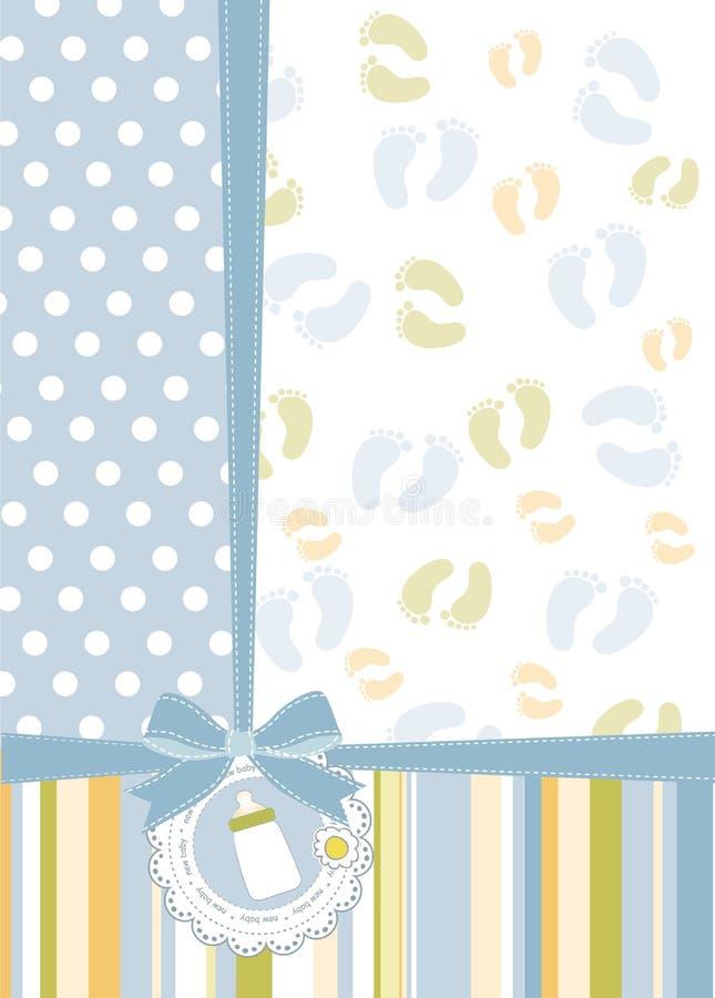 Cartão do anúncio do chuveiro de bebê ilustração royalty free