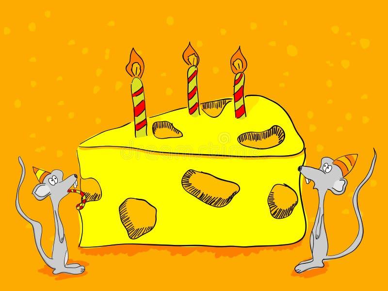 Cartão do aniversário ilustração do vetor