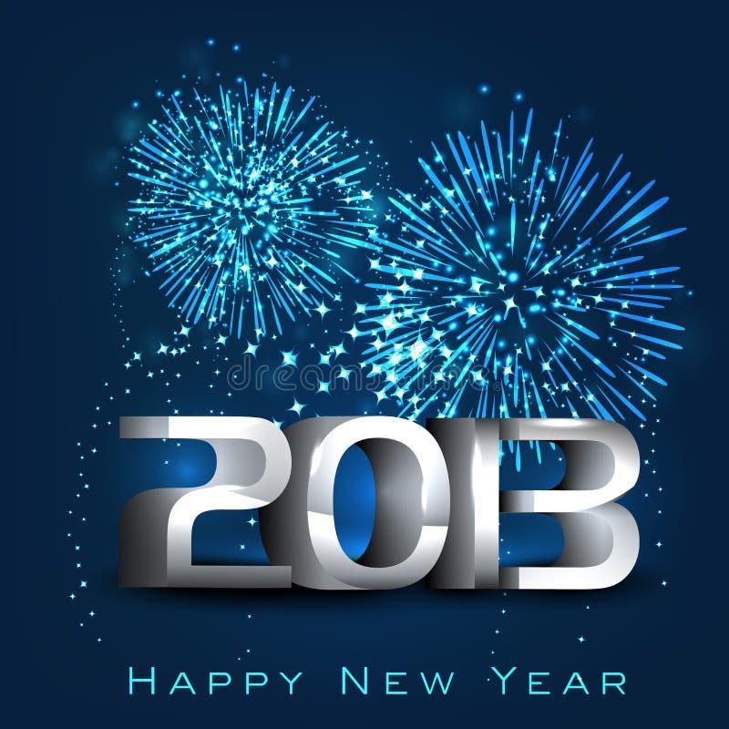 Cartão do ano 2013 novo feliz. ilustração stock