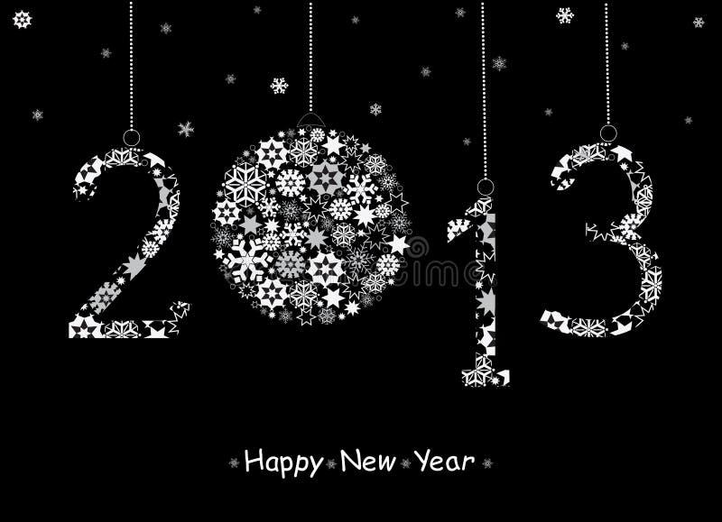 Cartão do ano 2013 novo feliz. ilustração royalty free