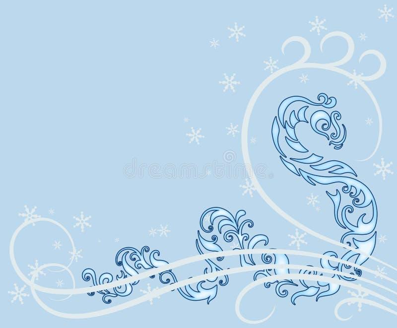 Cartão do ano da serpente ilustração stock