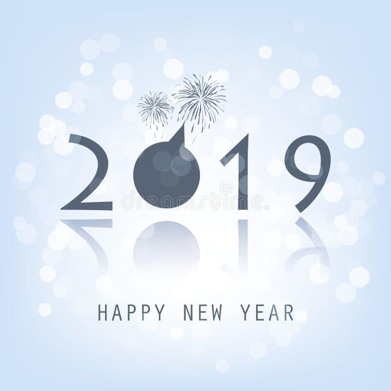 Cartão do ano novo - 2019 ilustração royalty free
