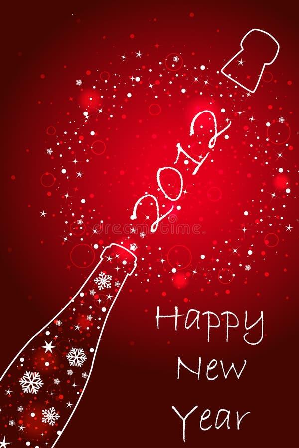 Cartão do ano novo 2012 ilustração royalty free