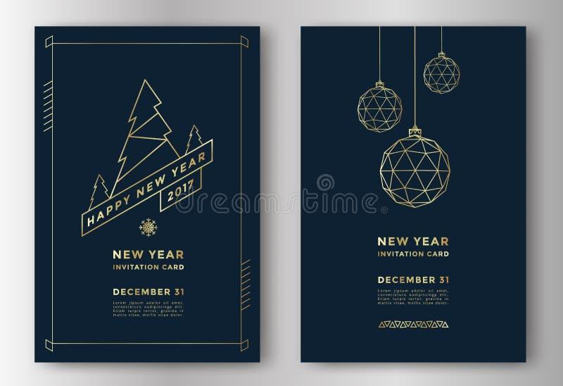 Cartão do ano novo ilustração do vetor