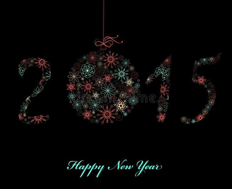Cartão 2015 do ano novo feliz ilustração stock