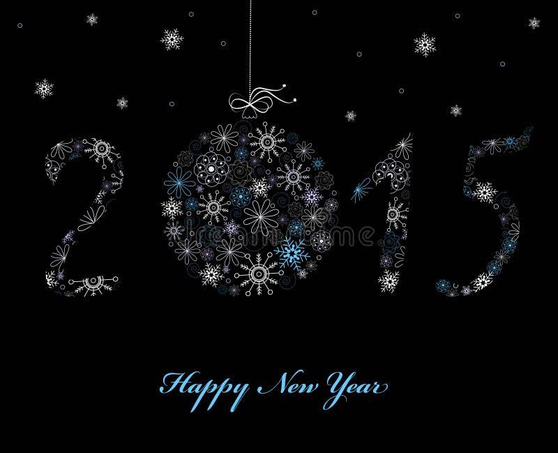 Cartão do ano novo feliz ilustração stock