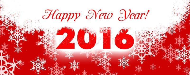 Cartão 2016 do ano novo feliz ilustração stock