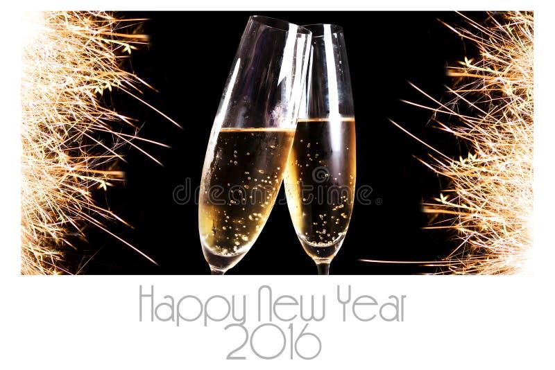 Cartão 2016 do ano novo feliz imagens de stock