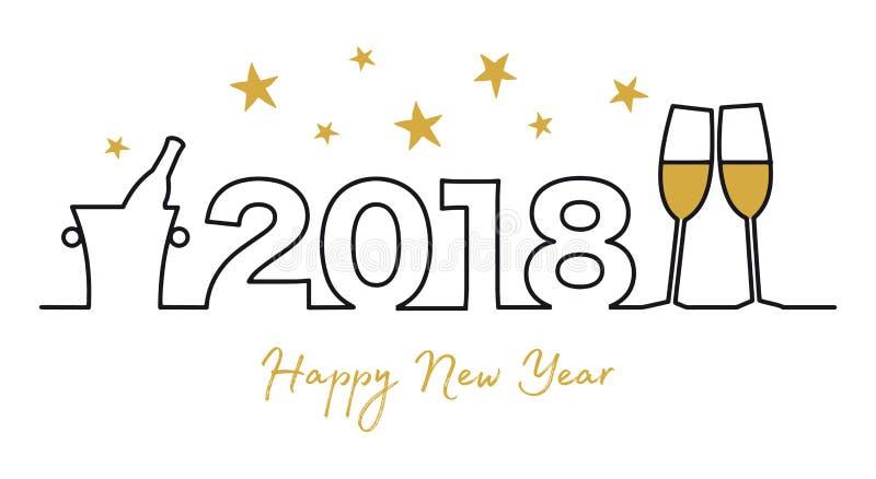 Cartão do ano novo feliz ilustração do ano novo feliz 201 ilustração royalty free