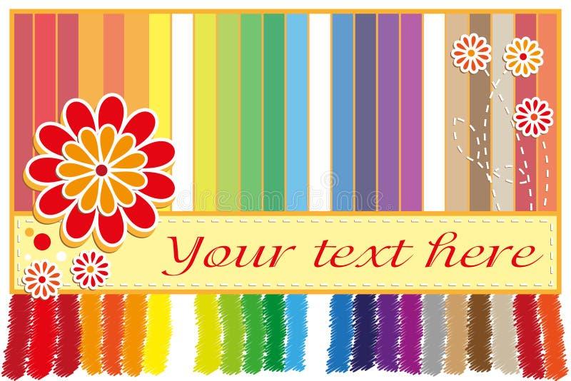 Cartão do arco-íris ilustração royalty free