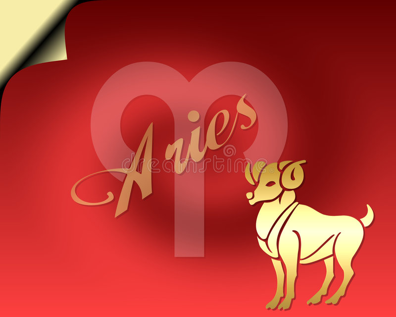 Cartão do Aries ilustração do vetor