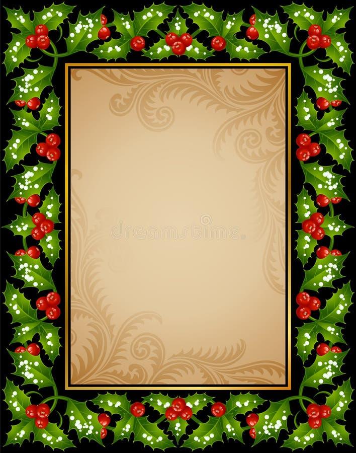 Cartão do azevinho do Natal