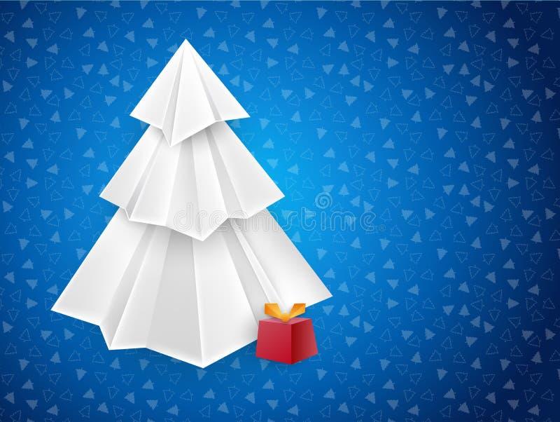 Cartão do azul do Natal ilustração stock