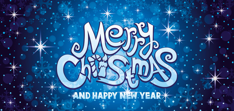 Cartão do azul do Feliz Natal ilustração do vetor