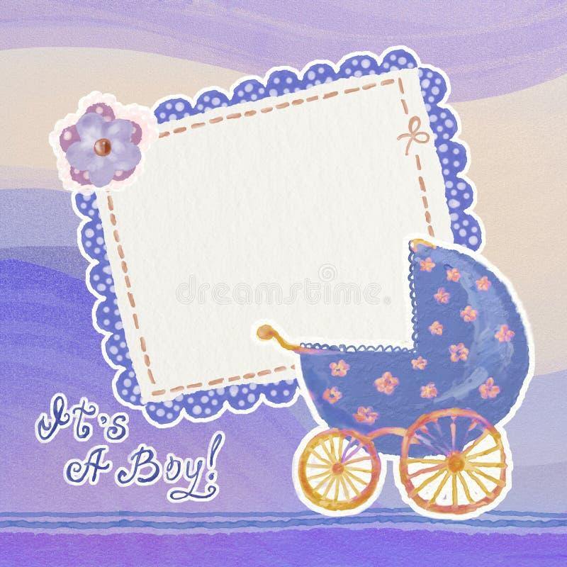 Cartão do bebé ilustração stock