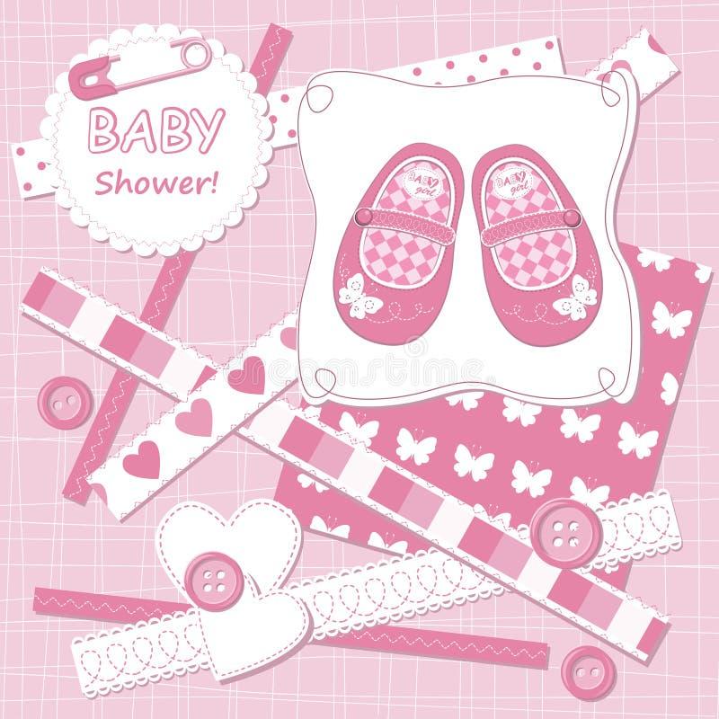Cartão do bebé do vetor ilustração stock