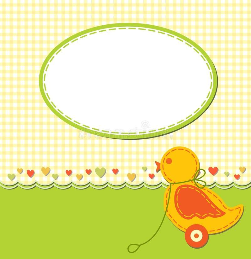 Cartão do bebê ilustração do vetor