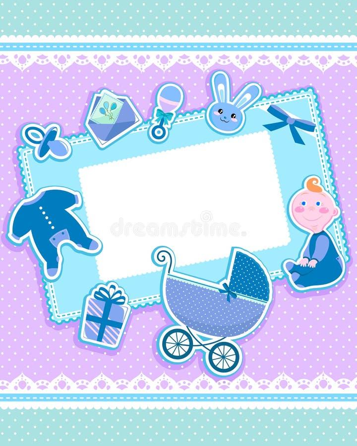 Cartão do bebê ilustração stock