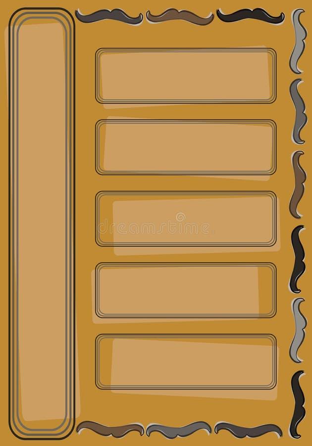 Cartão do bigode do moderno imagens de stock