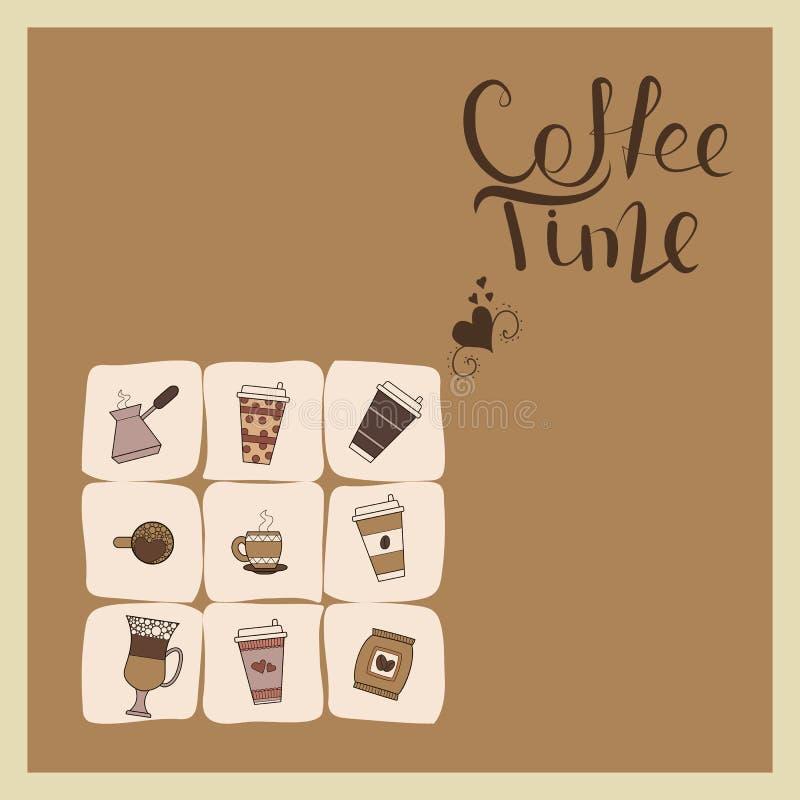 Cartão do café ilustração stock