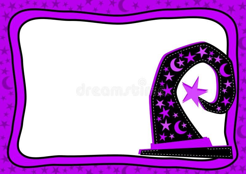 Cartão do chapéu de Dia das Bruxas fotos de stock