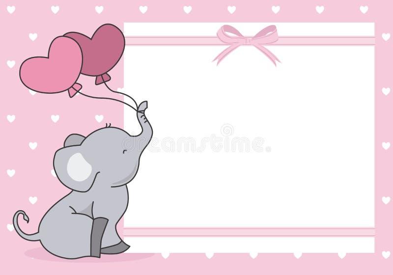 Cartão do chuveiro do bebê ilustração royalty free