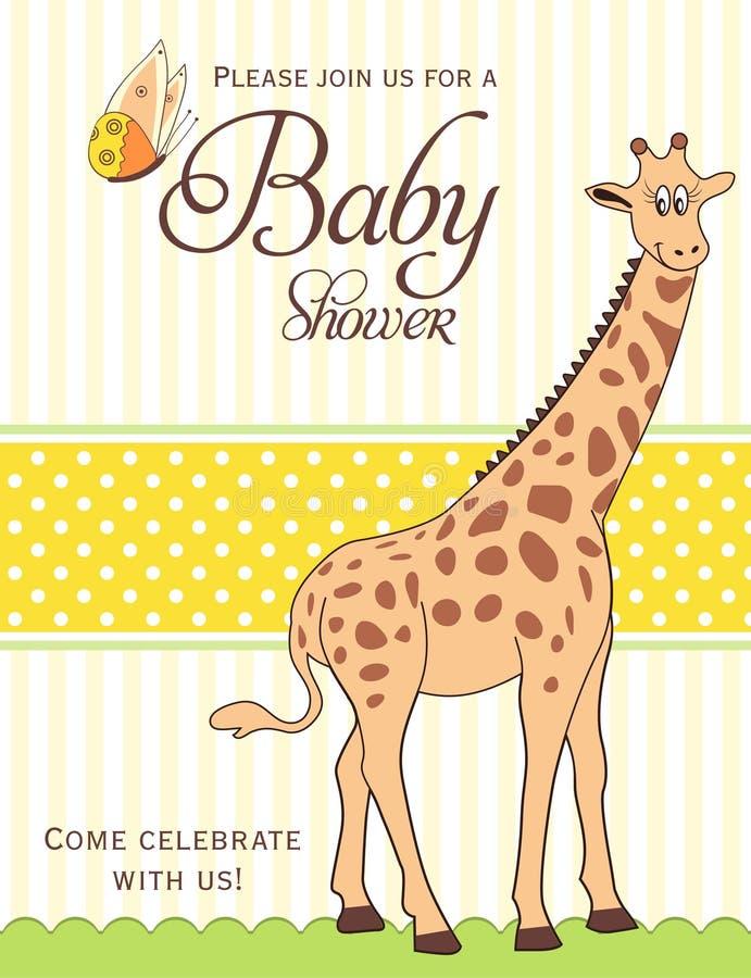 Cartão do chuveiro de bebê ilustração royalty free