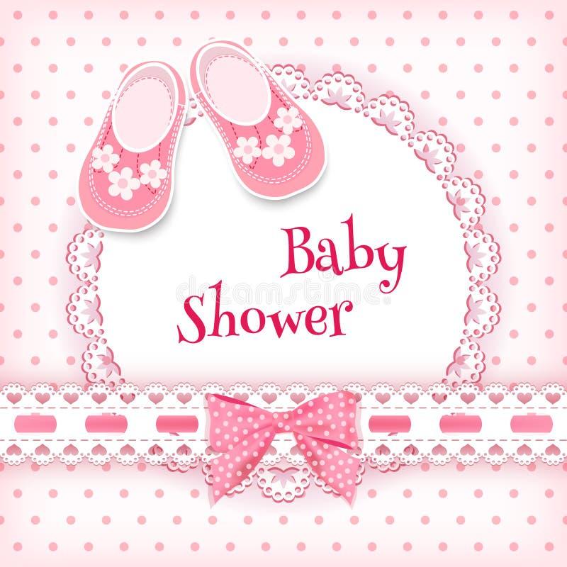 Cartão do chuveiro de bebê ilustração stock