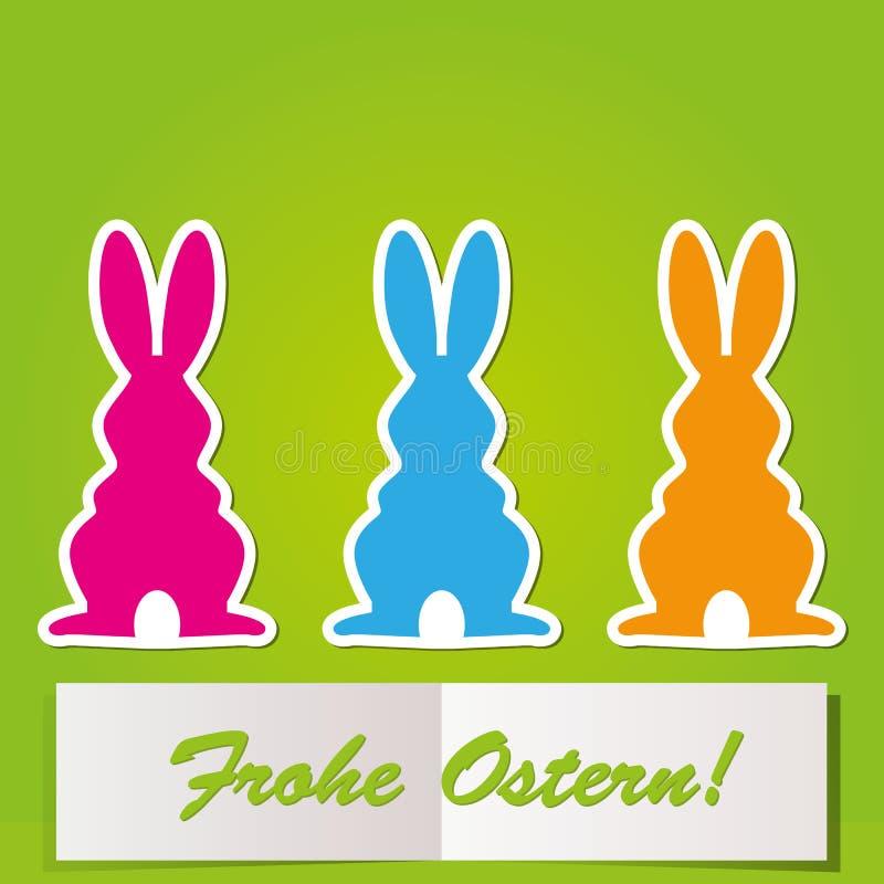 Cartão do coelhinho da Páscoa ilustração do vetor