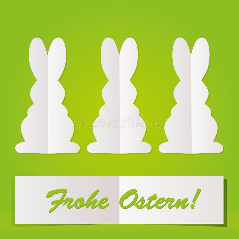 Cartão do coelhinho da Páscoa ilustração stock