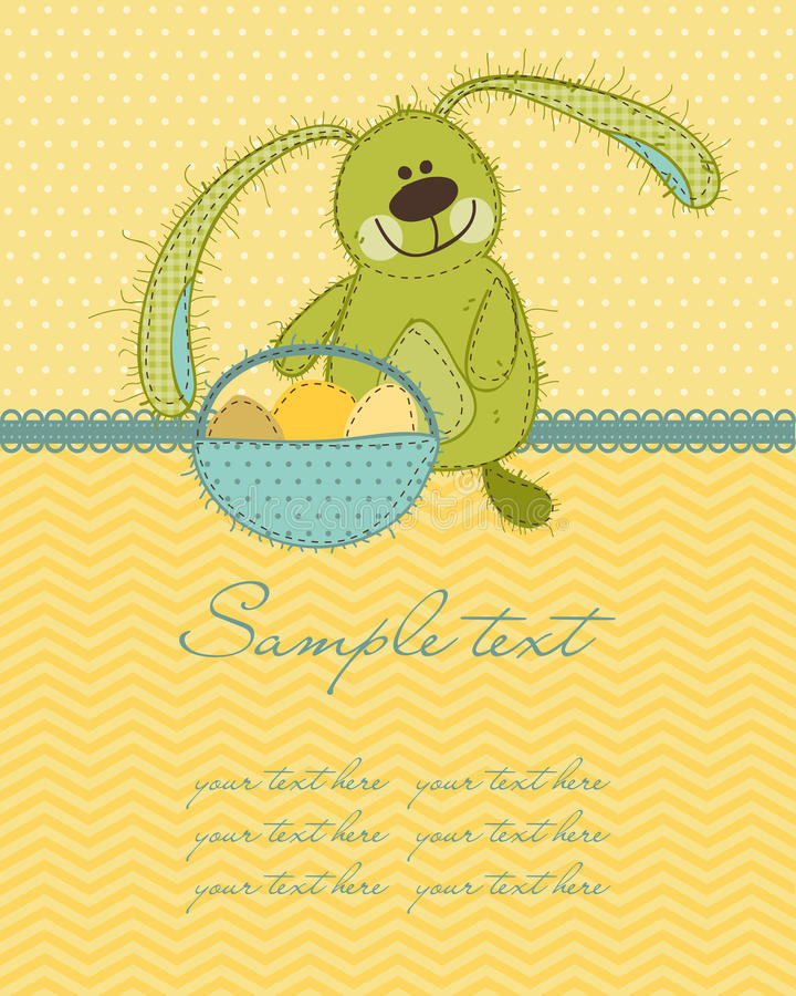 Cartão do coelho de Easter ilustração do vetor
