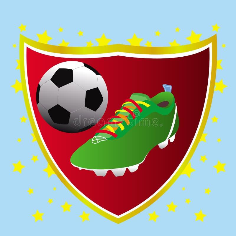 Download Cartão Do Conceito Da Bandeira Do Futebol Ilustração do Vetor - Ilustração de carregador, fundo: 16865962