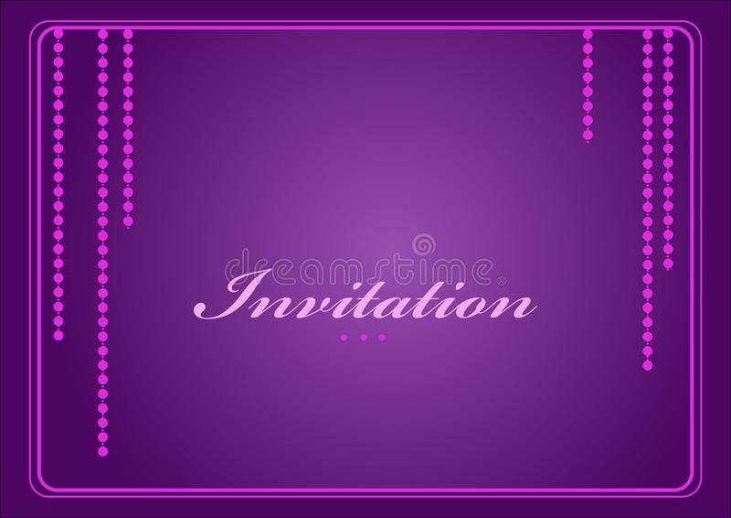 Cartão do convite ilustração stock
