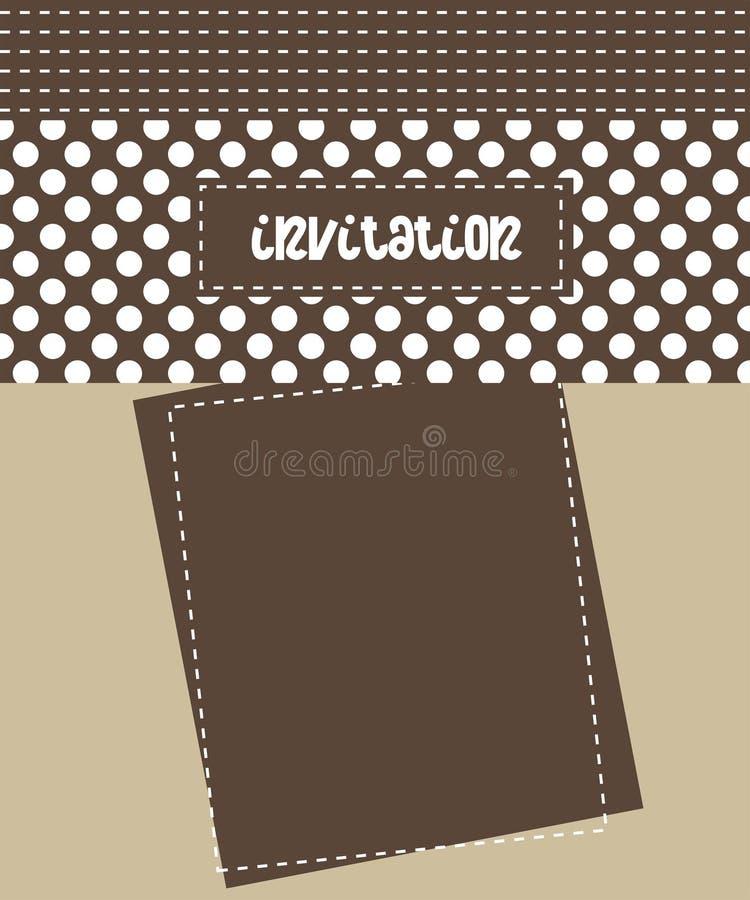 Cartão do convite ilustração do vetor