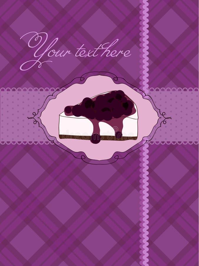 Cartão do convite com bolo de queijo ilustração do vetor