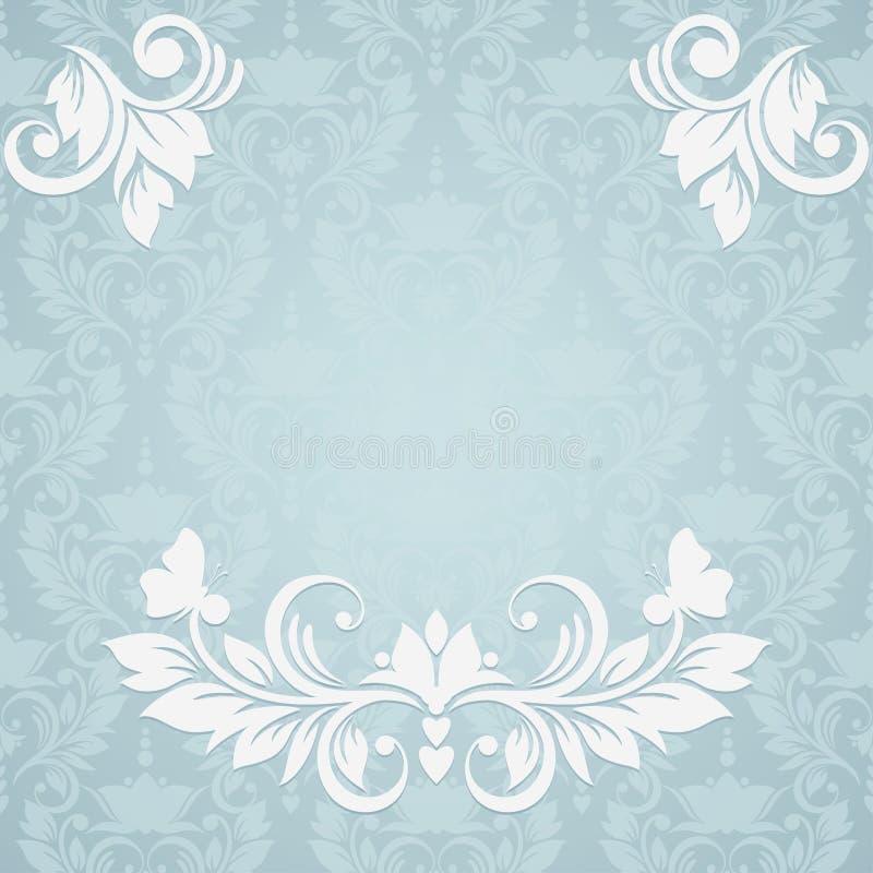 Cartão do convite com fundo floral abstrato. E ilustração do vetor