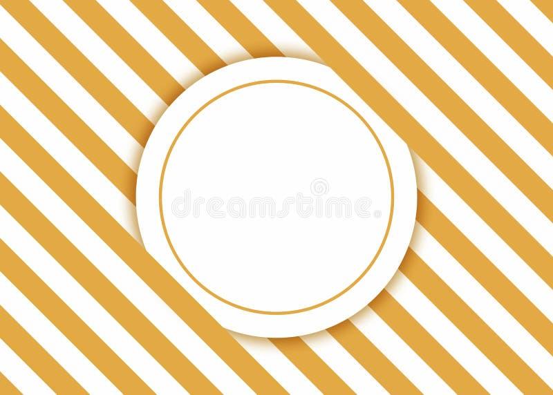 Cartão do convite com listras amarelas ilustração stock