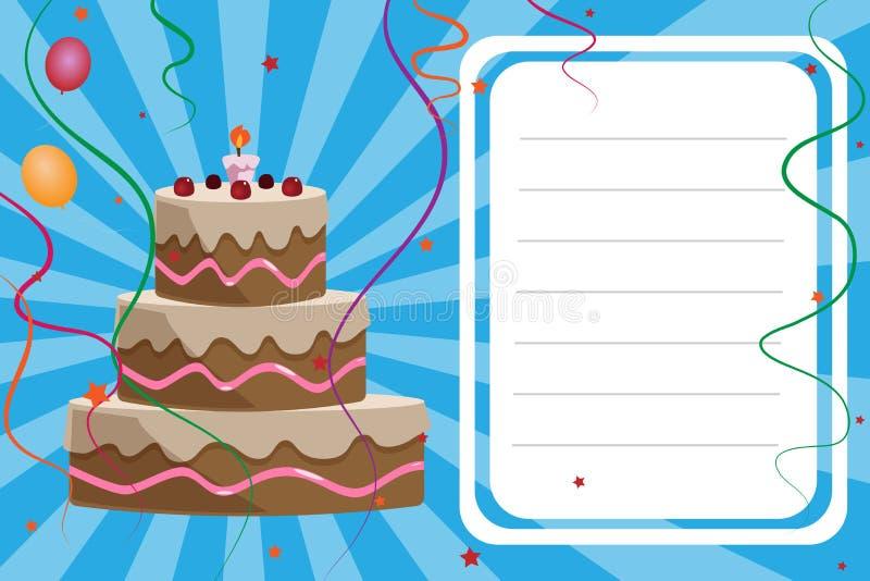 Cartão do convite do aniversário - menino ilustração do vetor