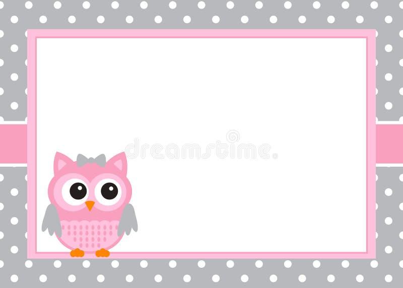 Cartão do convite do bebê ilustração do vetor
