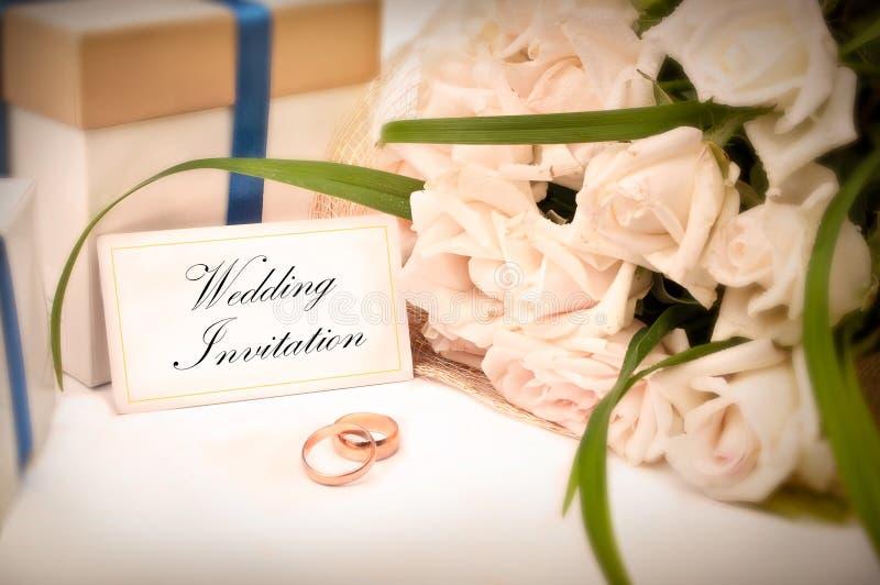 Cartão do convite do casamento imagem de stock royalty free