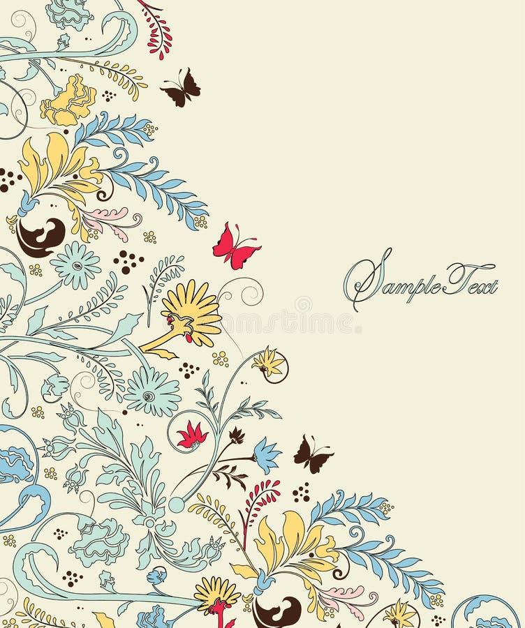 Cartão do convite do casamento ilustração royalty free