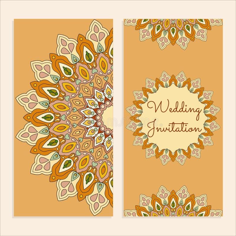 Cartão do convite do casamento do molde imagens de stock