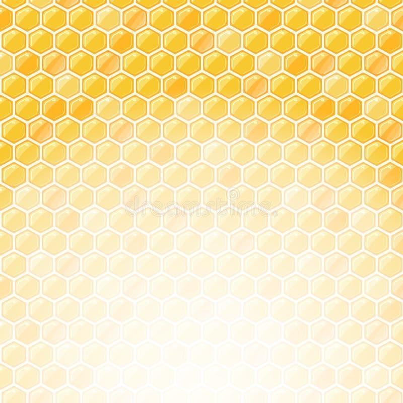 Cartão do convite do favo de mel com lugar para o texto ilustração stock