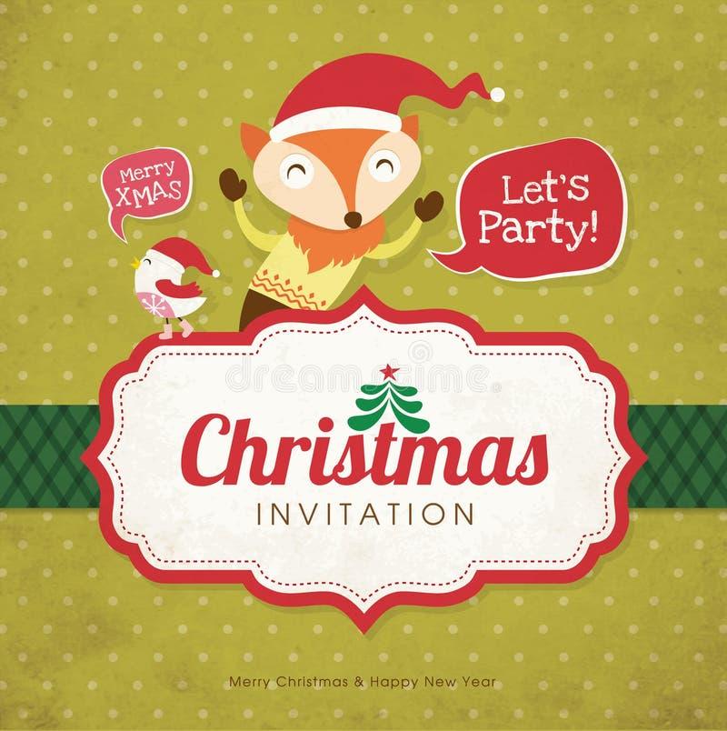 Cartão do convite do Natal ilustração stock