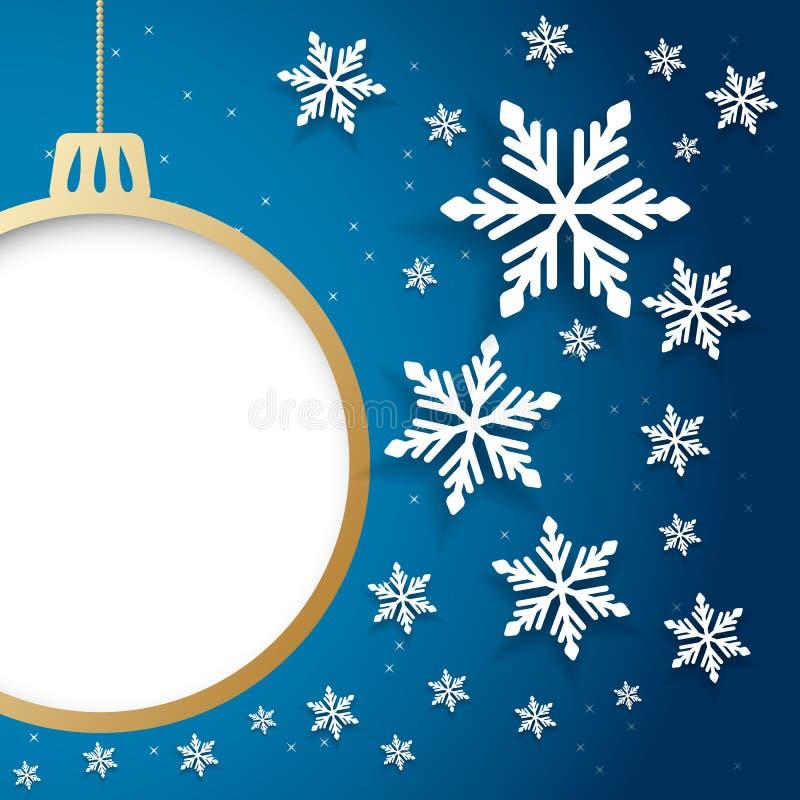 Cartão do convite do Natal do vetor e do ano novo ilustração royalty free