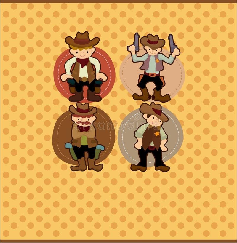 Cartão do cowboy dos desenhos animados ilustração royalty free