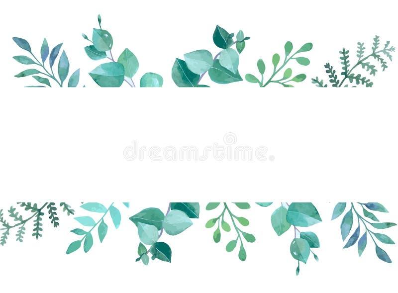 Cartão do design floral do vetor na aquarela foto de stock royalty free